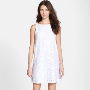 BB Dakota White Savvanah Lace Shift Dress